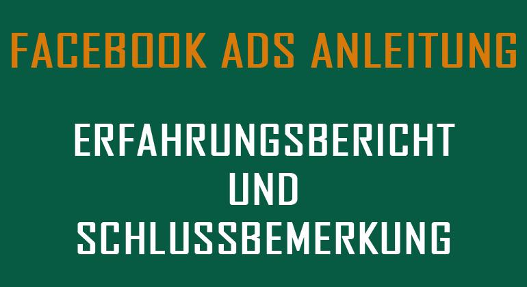 Facebook Ads-Anleitung Erfahrungsbericht