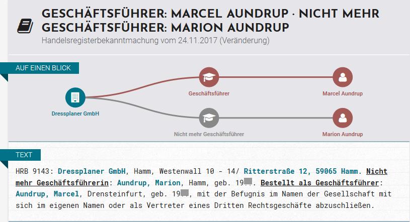 Dressplaner Marcel Aundrup Geschäftsführer