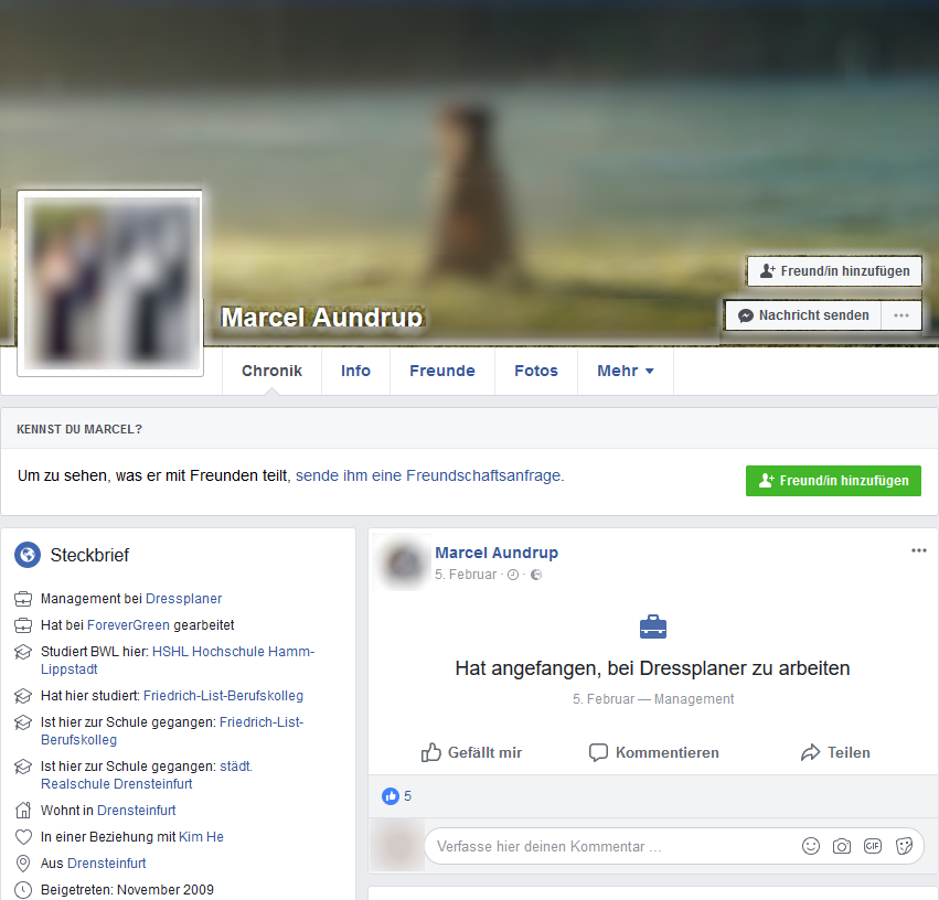 Marcel Aundrup Facebook