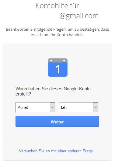 Google Kontoerstellung