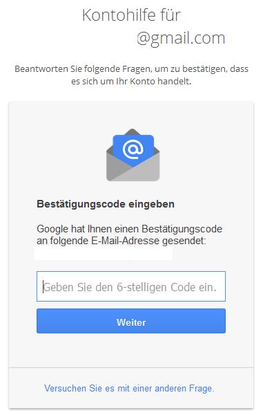 Google Kontohilfe E-Mail Teil 2