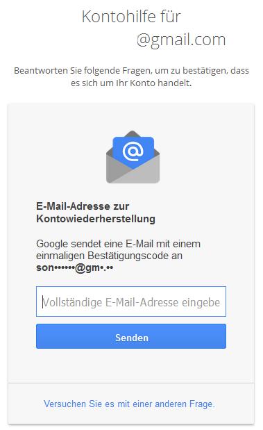 Google Kontowiederherstellung