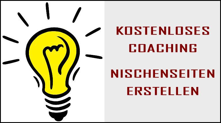 kostenloses Coaching Nischenseiten erstellen